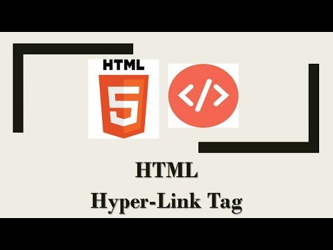 HTML Tutorial #5 - How to make a hyperlink (clickable link) in HTML (Web Development)