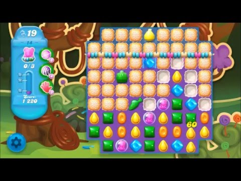 Candy Crush Soda Level 14 *Get the bear above the candy string*