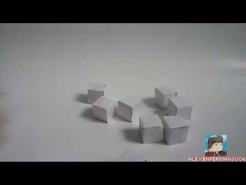 How to make a infinite folding cube with paper