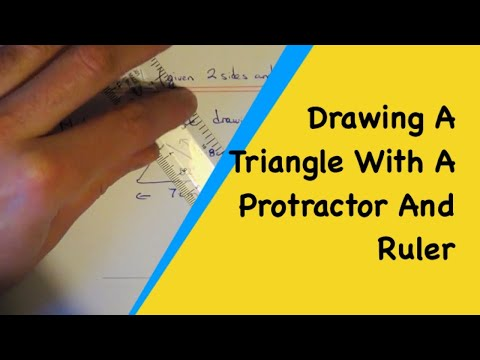 How To Draw A Triangle With 2 Given Sides And 1 Angle (With Protractor)