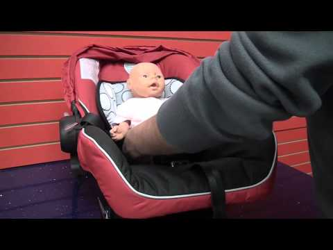 Britax B-Safe Car Seat: Learn to correctly place and buckle child into car seat .