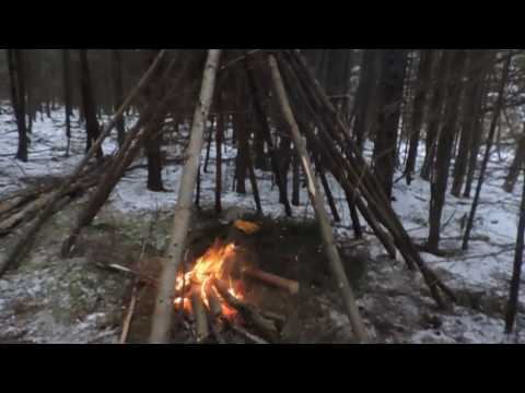 Building a Wickiup Shelter (Day 1)