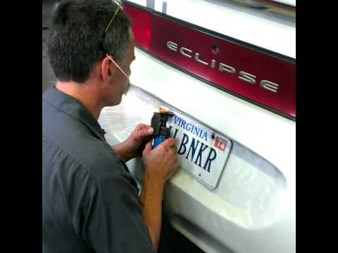 How to remove a stubborn license plate