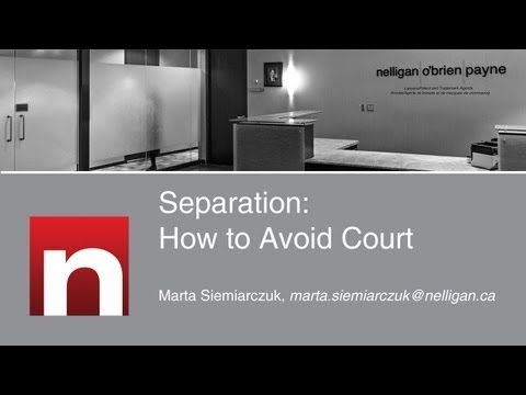 Separation: How to Avoid Court