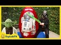 GIANT EGG SURPRISE OPENING Star Wars The Force Awakens Toys Kids Video