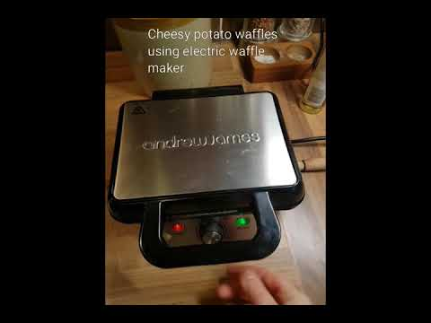 Slimming World Cheesy Potato Waffles (live cooking video)