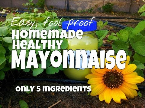 5 Ingredient, Healthy, Homemade Mayonnaise with Avocado Oil