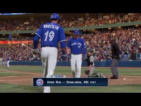 MLB The Show 16 PS4 Josh Donaldson Home Run and celebration trot