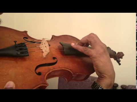 Exercise for violin playing at higher positions