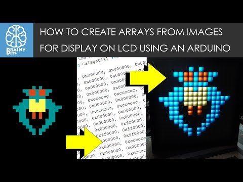 How to convert images to Arduino Arrays for use on LCD displays! - Tutorial