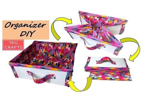 How to make a multipurpose cloth basket at home // DIY Folding Cloth Basket // DIY Cloth Hacks