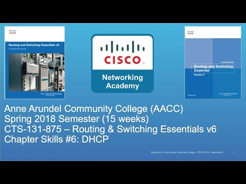AACC - CTS-131 - CCNA R&S - Spring 2018 - PT Chapter Skills #6 - Week #13