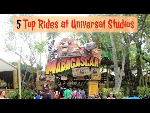 5 TOP RIDES AT UNIVERSAL STUDIOS - SINGAPORE