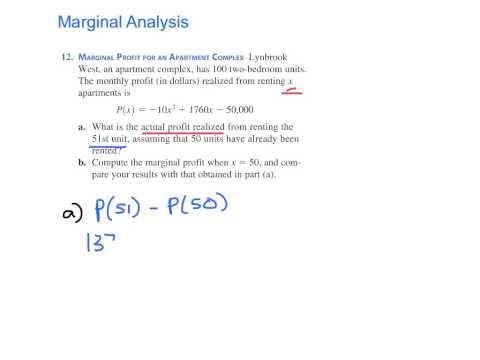 Marginal Profit (p. 211 #12)