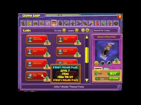 Wizard101 opening packs
