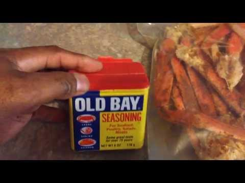 Reheating Snow Crabs with Old Bay Seasoning in the Microwave