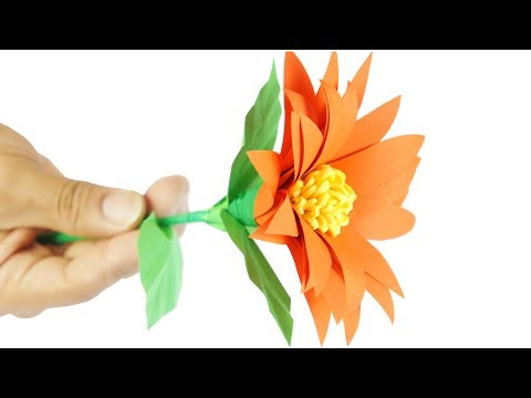 Paper Flower easy tCraft