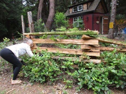 How to build a Cedar Snake Rail Fence