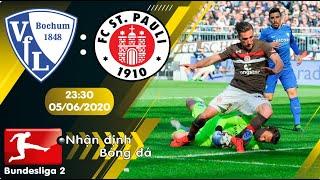 Nhận định, soi kèo Bochum vs St Pauli 23h30 ngày 05/06 - vòng 30 - Bundesliga 2 - 2019/2020