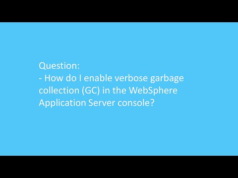 How do I enable verbose garbage collection (GC) in the WebSphere Application Server console?