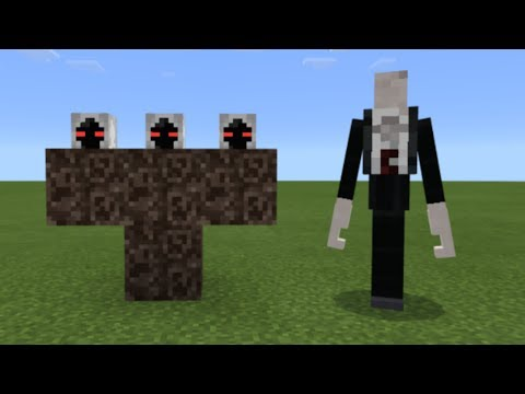 What Happens When You Spawn Slenderman and Entity 303 in Minecraft Pocket Edition