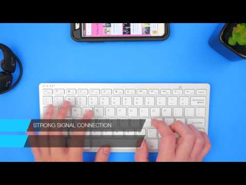 ZAAP ULTRA SLIM Bluetooth Universal Keyboard (White) - Unboxing & Review