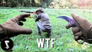 Guy Knifes Players with IRL Karambit Fade at Airsoft Field!
