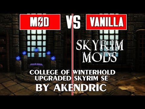 Skyrim Special Edition Mods - College of Winterhold Upgraded in 4K