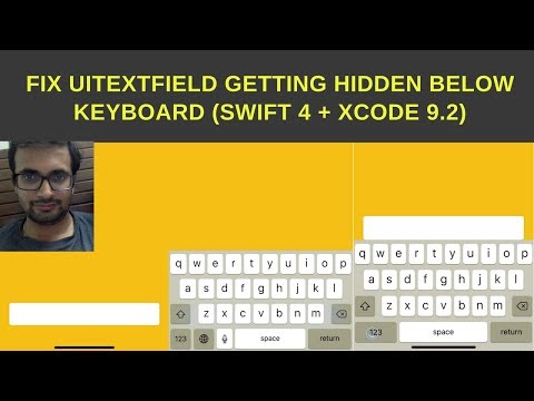 Fix UItextField getting hidden below keyboard (Swift 4 + Xcode 9.2)