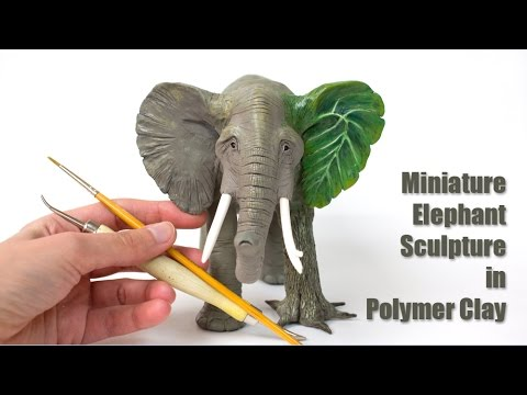 Polymer Clay Elephant Sculpture // Speed Sculpting