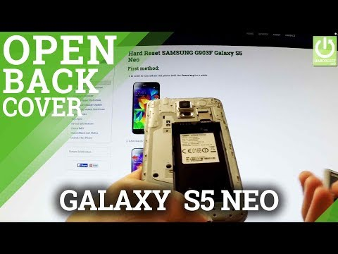 How to Remove the Battery in SAMSUNG G903F Galaxy S5 Neo - Open the Back Cover in SAMSUNG