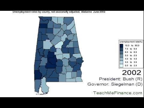 Alabama Unemployment Map