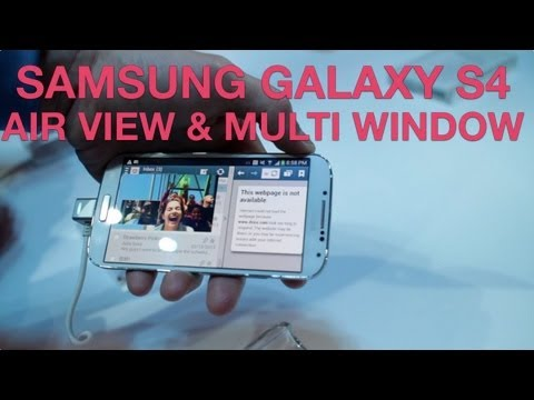 Samsung Galaxy S4 Air View & Multi Window Demo