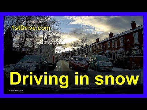 How to drive safely in the snow - tips for new drivers in the UK