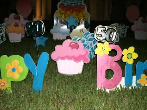 Birthday Lawn Signs Oakville Ontario