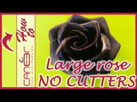 How to make a large fondant rose