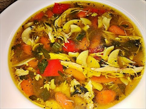 Homemade Chicken noodle soup recipe -- How to make the best chicken noodle soup