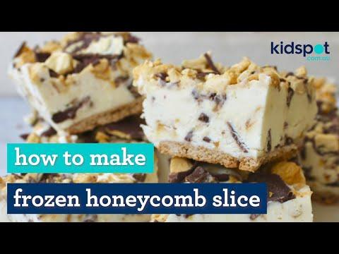 Frozen honeycomb slice