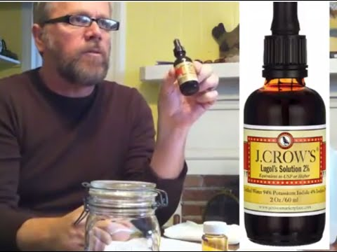 DYI  Lugol's Solution Iodine - Make Your Own 5%  HOW TO AT HOME