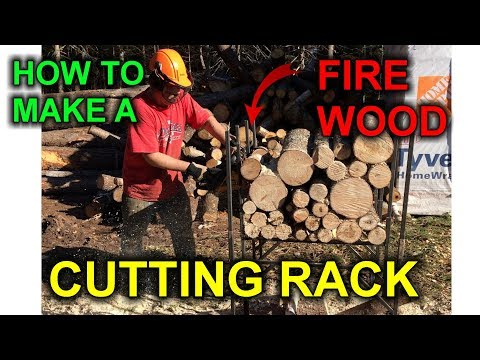 DIY Super Log Cutting Rack for your firewood