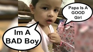 Ziva Dhoni FUNNY Video Saying I Am A GOOD Boy