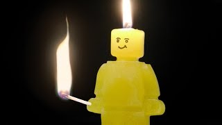 How to Make a Lego-Style Figure Candle