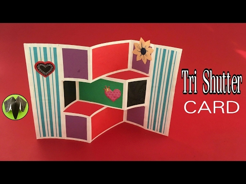 Tri Shutter Card - DIY Tutorial by Paper Folds - 689