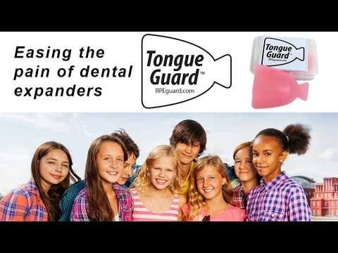 RPE Tongue Guard, stops cuts and sores on tongue from dental expanders.