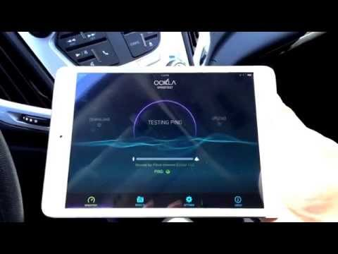 Testing the speed of the 2015 GM Terrain 4G wifi hotspot