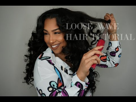 Loose Wave Hair Tutorial FT NayaVista Hair Collection | TheAnayal8ter