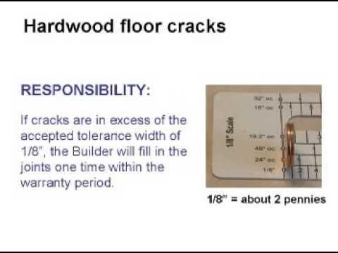 Hardwood Floor Crack Repair