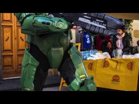 DIY Halo Master Chief suit fast motion