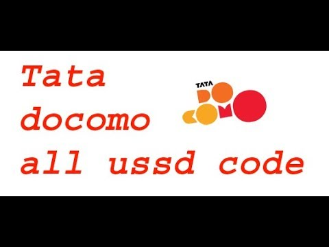 TATA DOCOMO \ All Ussd Code Tata Docomo Chack Balalnce Chack Netbalnce Chack & My Mobile Nomber
