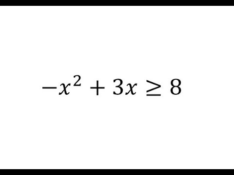 Solve a Quadratic Inequality - No Solution